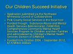 our children succeed initiative