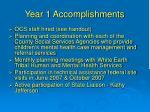 year 1 accomplishments2