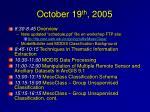 october 19 th 2005