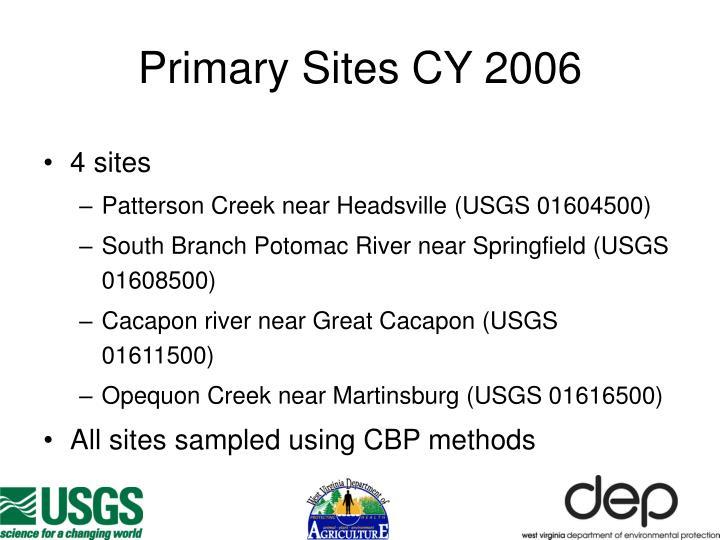 Primary Sites CY 2006