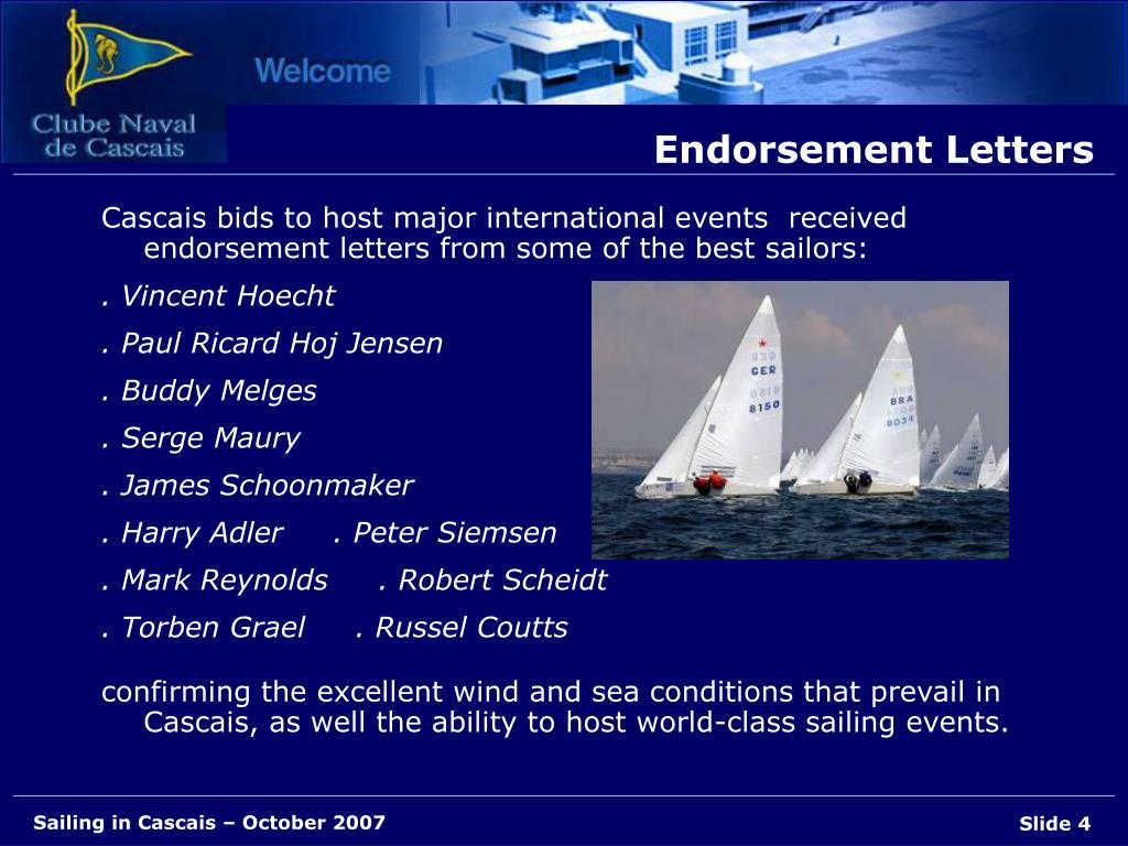 Endorsement Letters