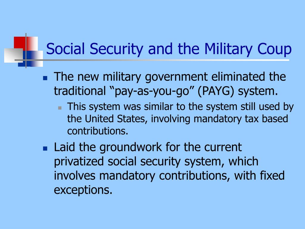 Social Security and the Military Coup