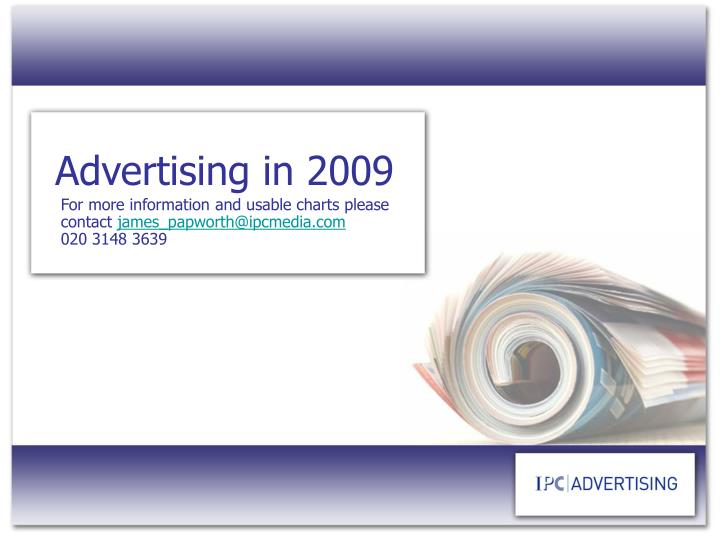 Advertising in 2009