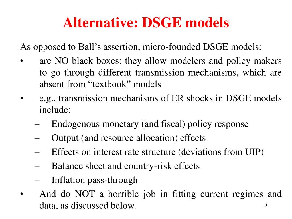 Alternative: DSGE models