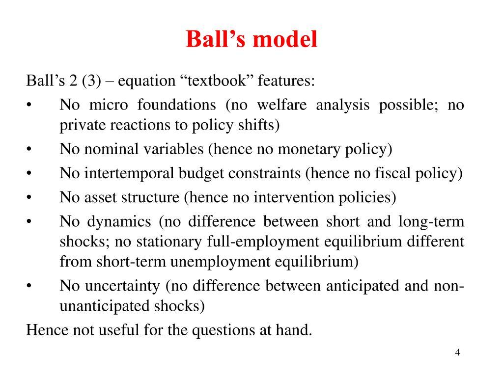 Ball's model