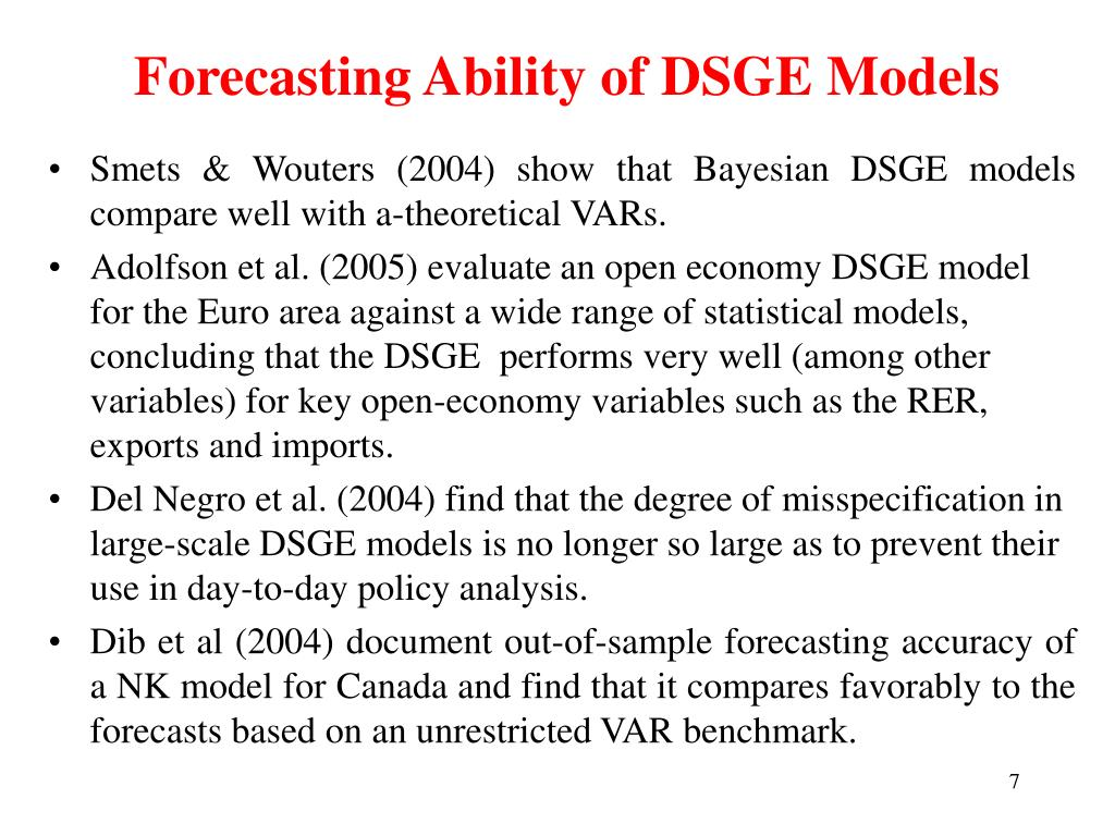 Forecasting Ability of DSGE Models