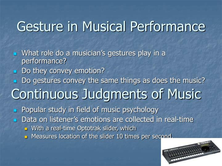Gesture in Musical Performance