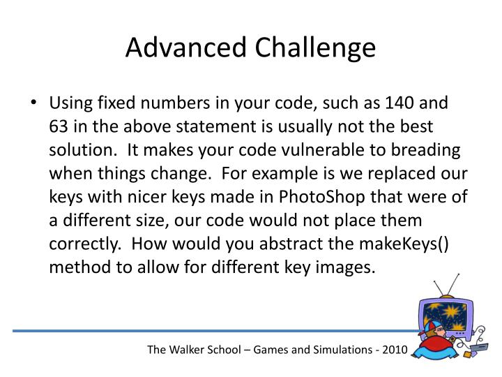 Advanced Challenge