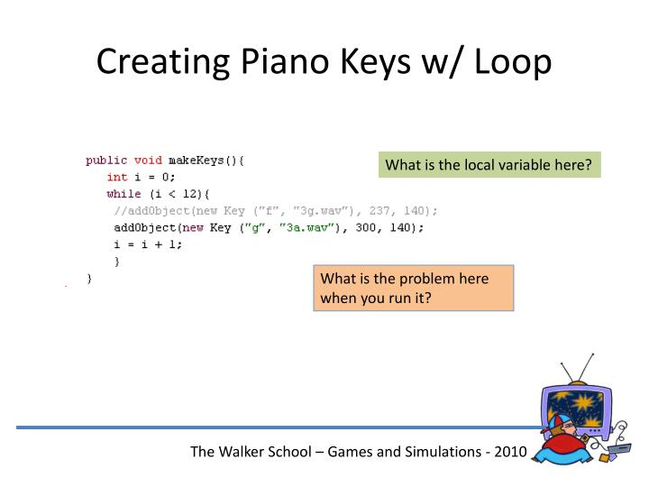 Creating Piano Keys w/ Loop