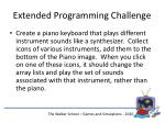 extended programming challenge