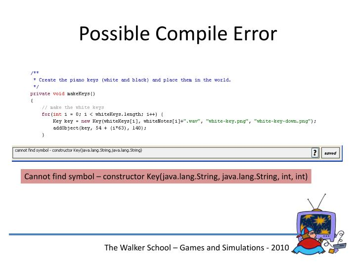 Possible Compile Error