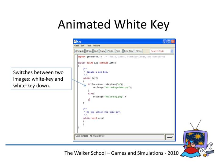 Animated White Key
