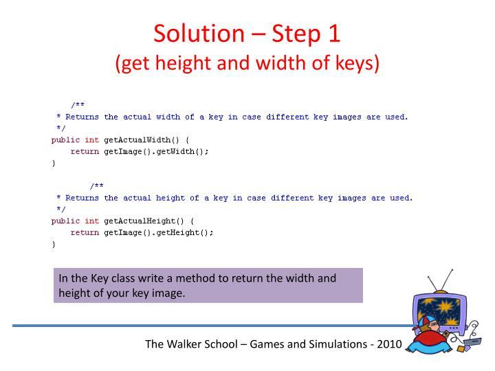 Solution – Step 1