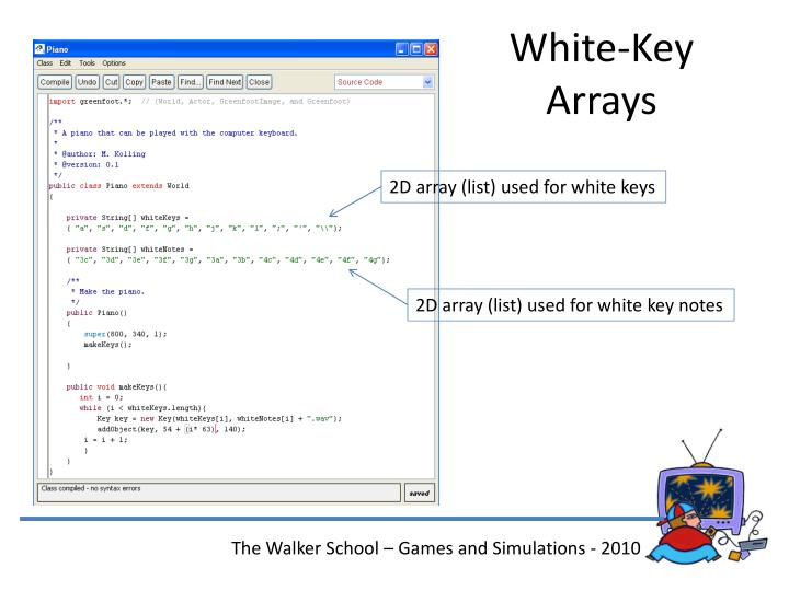 White-Key Arrays