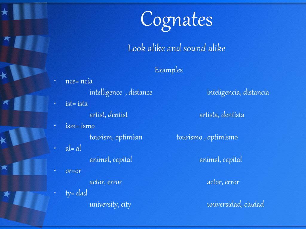 Cognates