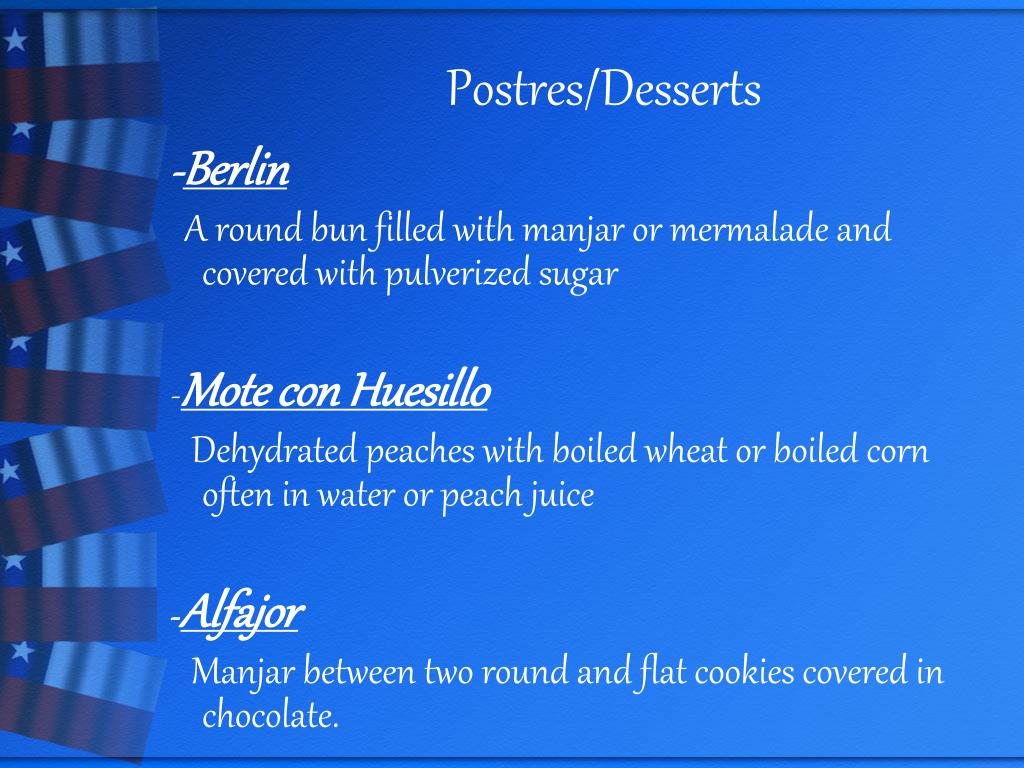 Postres/Desserts