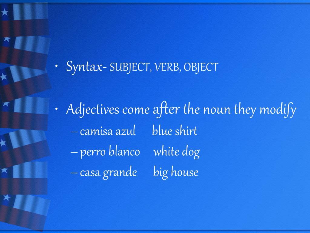 Syntax-