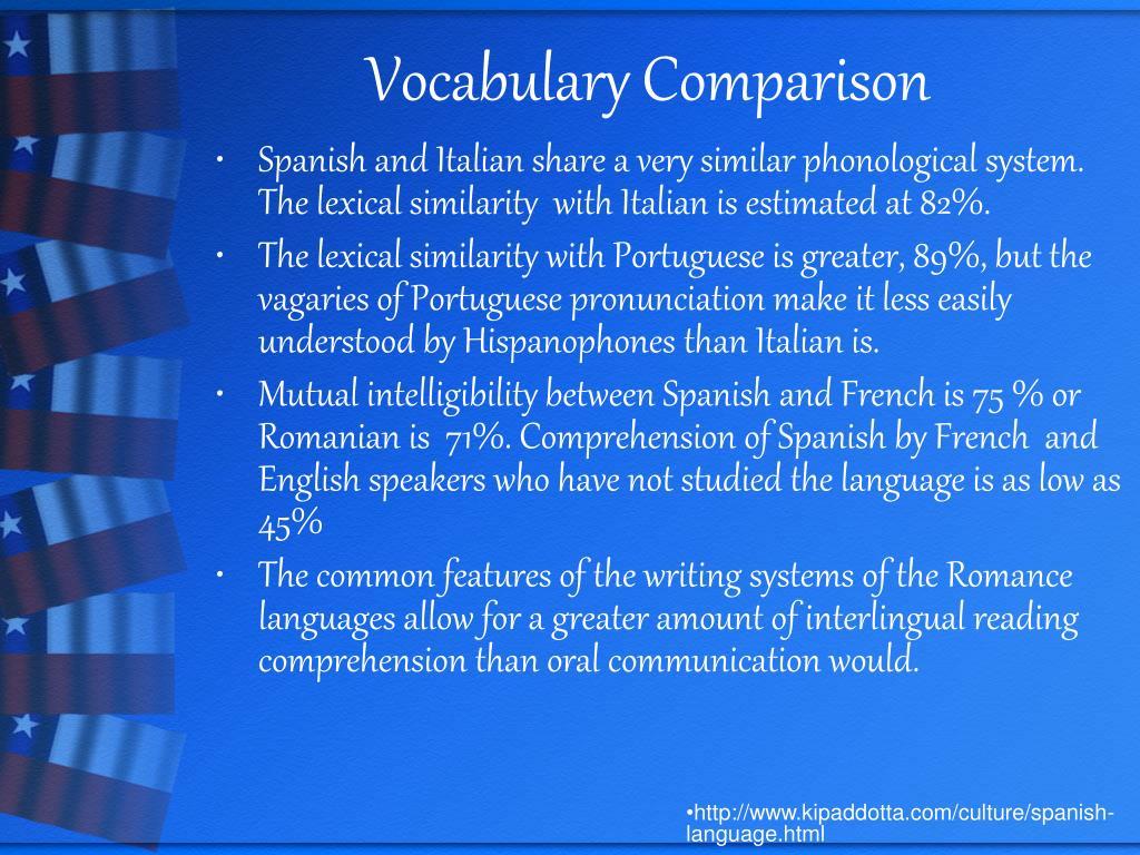 Vocabulary Comparison