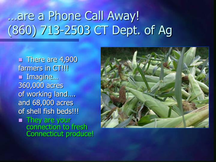 …are a Phone Call Away!