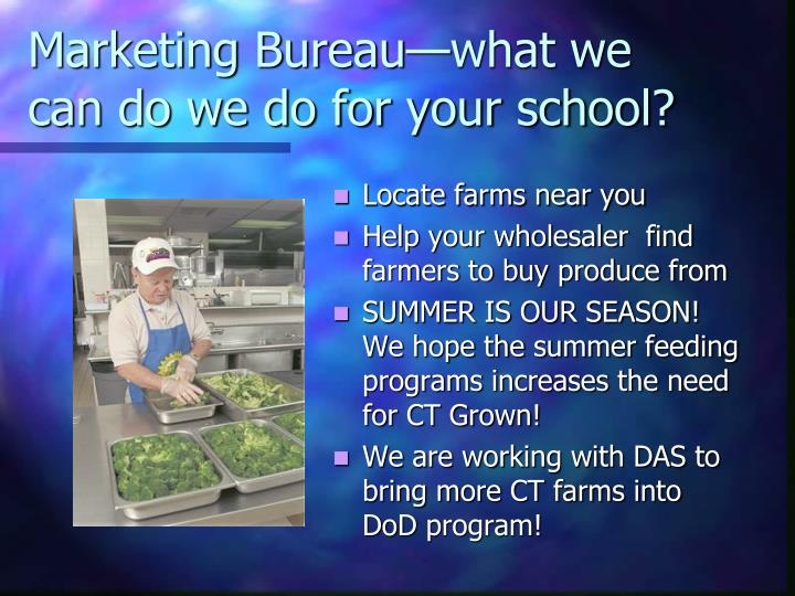 Marketing Bureau—what we can do we do for your school?