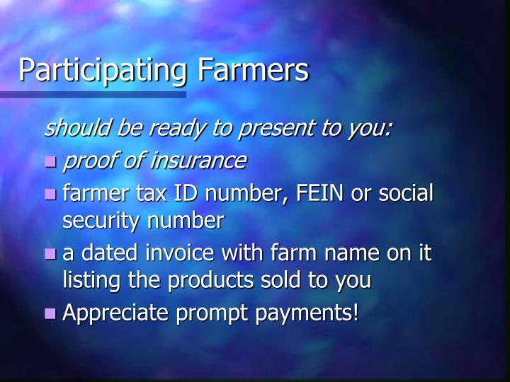 Participating Farmers