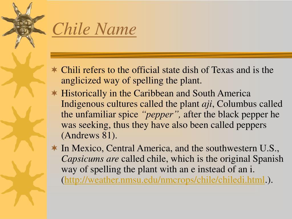 Chile Name