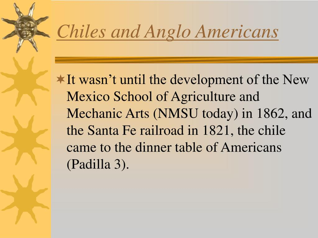 Chiles and Anglo Americans