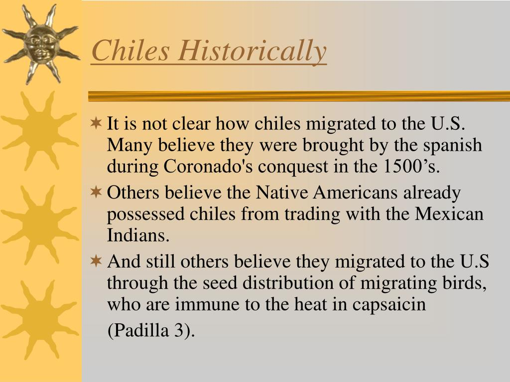 Chiles Historically