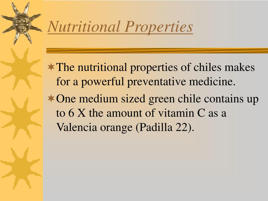 Nutritional Properties