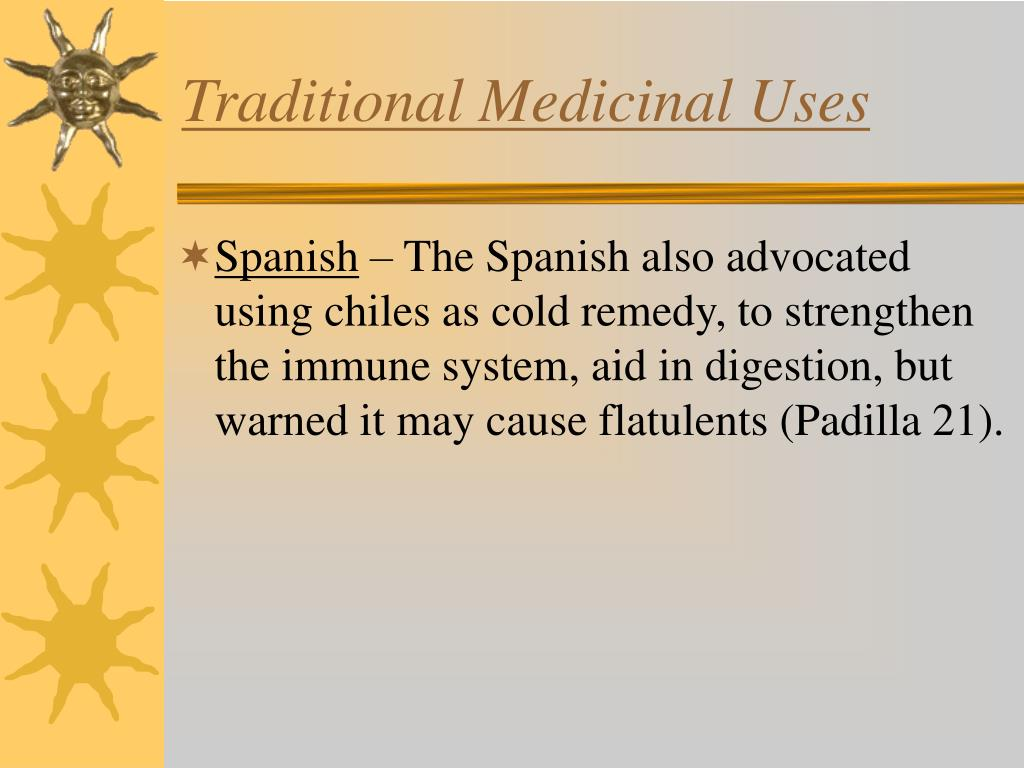 Traditional Medicinal Uses