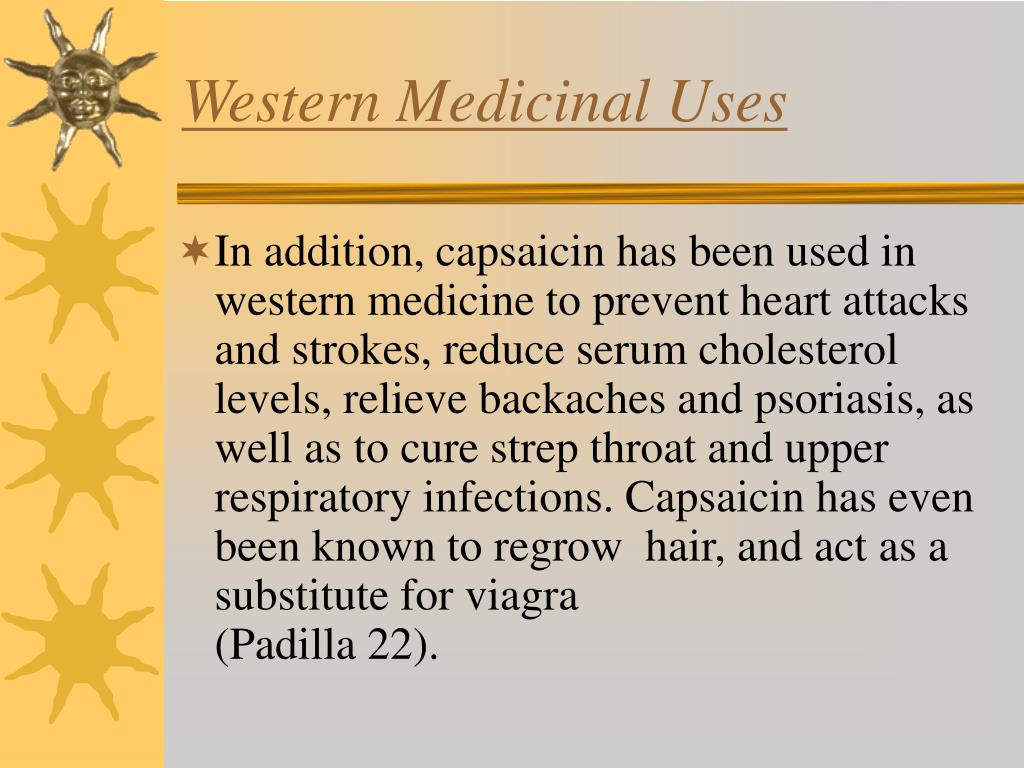 Western Medicinal Uses