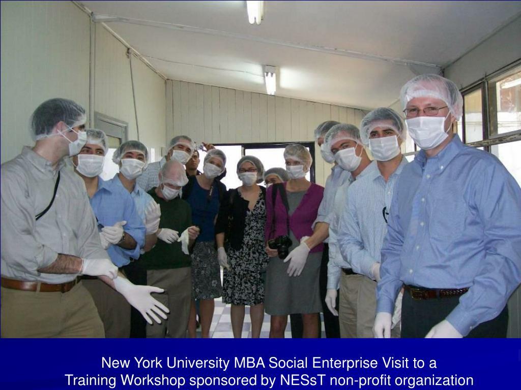 New York University MBA Social Enterprise Visit to a