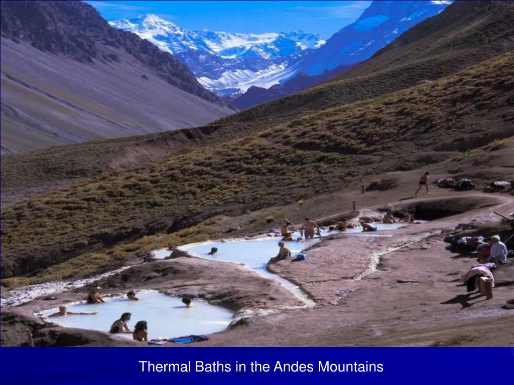 Thermal Baths in the Andes Mountains