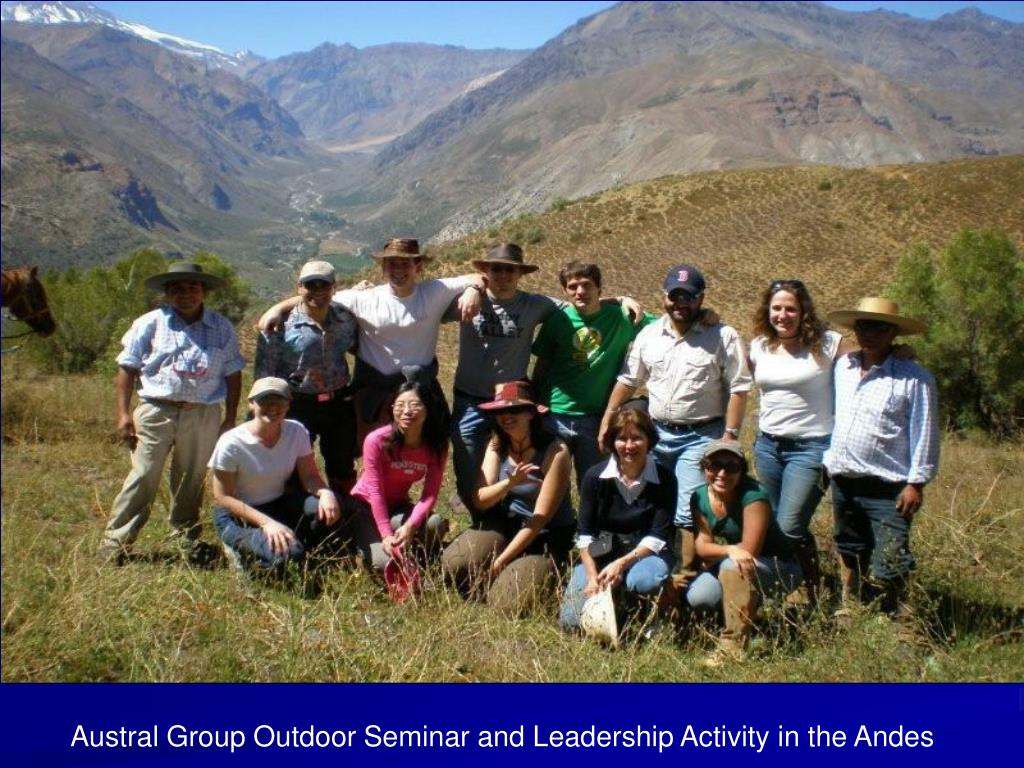 Austral Group Outdoor Seminar and Leadership Activity in the Andes