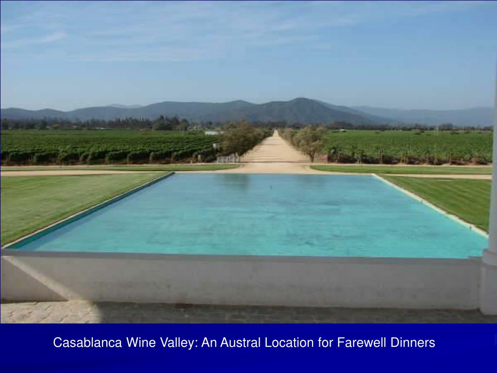Casablanca Wine Valley: An Austral Location for Farewell Dinners