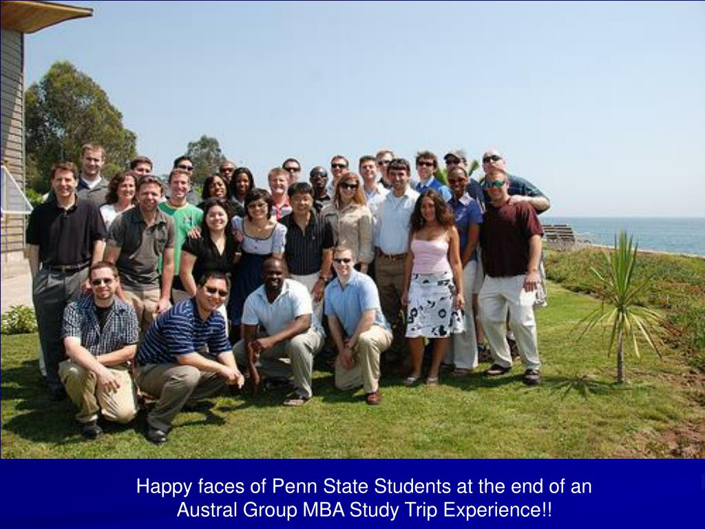 Happy faces of Penn State Students at the end of an