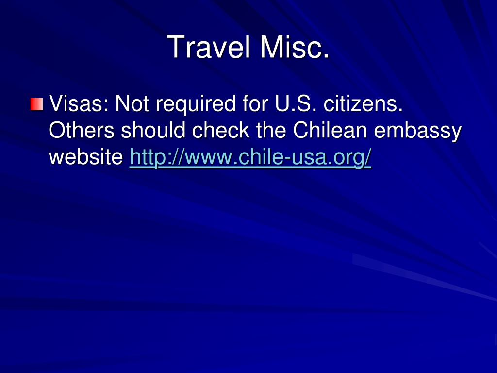 Travel Misc.