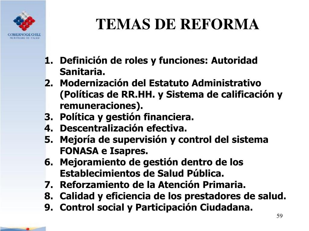 TEMAS DE REFORMA
