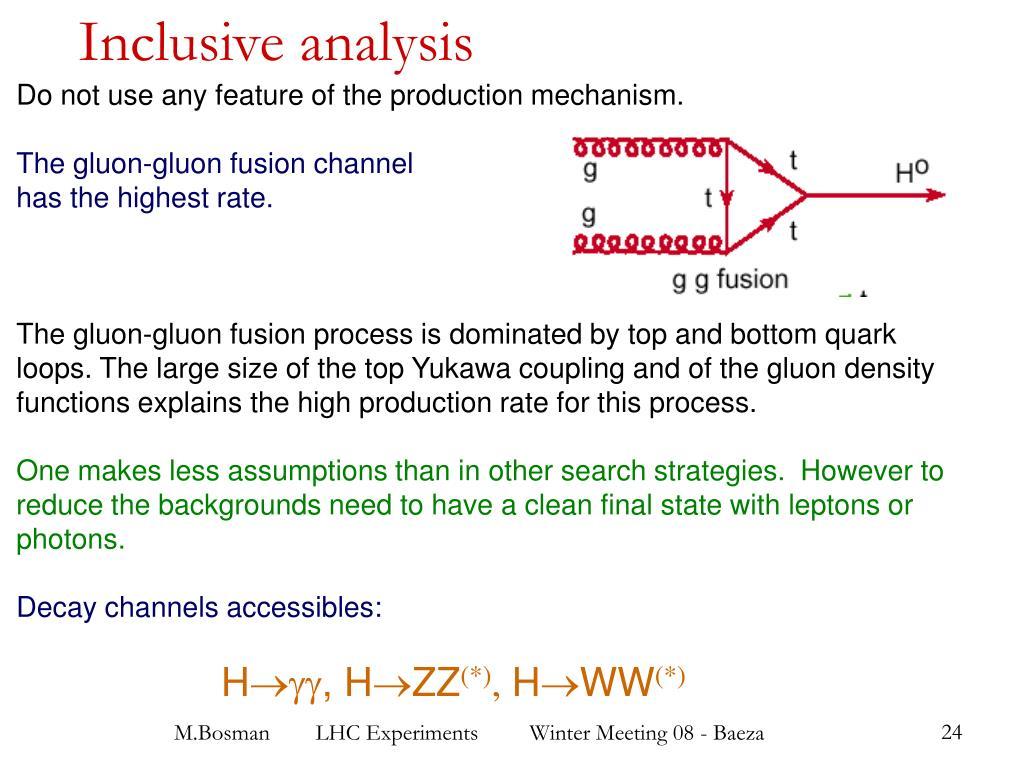 Inclusive analysis