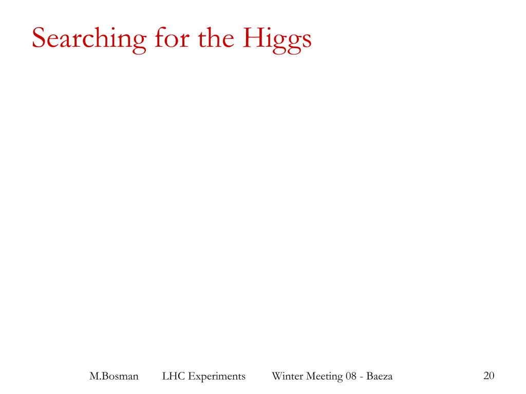 Searching for the Higgs