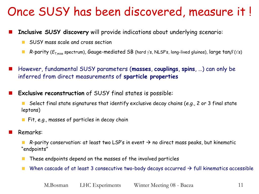 Once SUSY has been discovered, measure it !