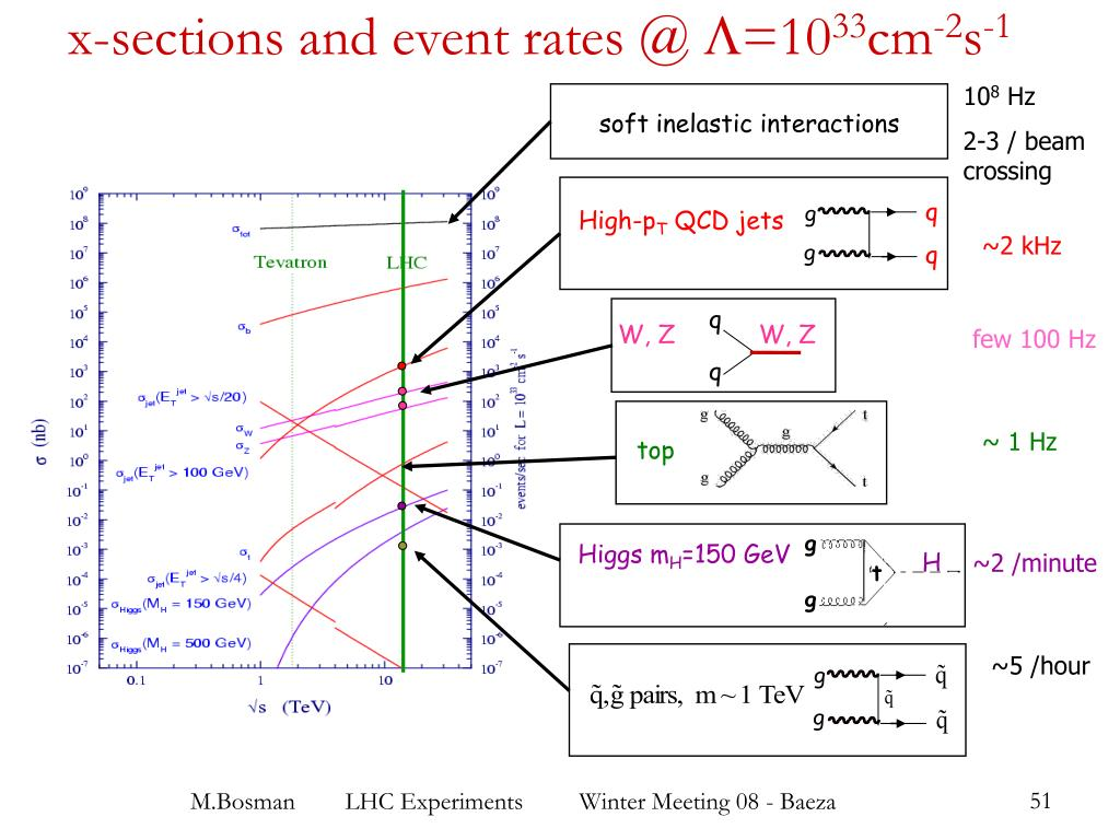 x-sections and event rates @