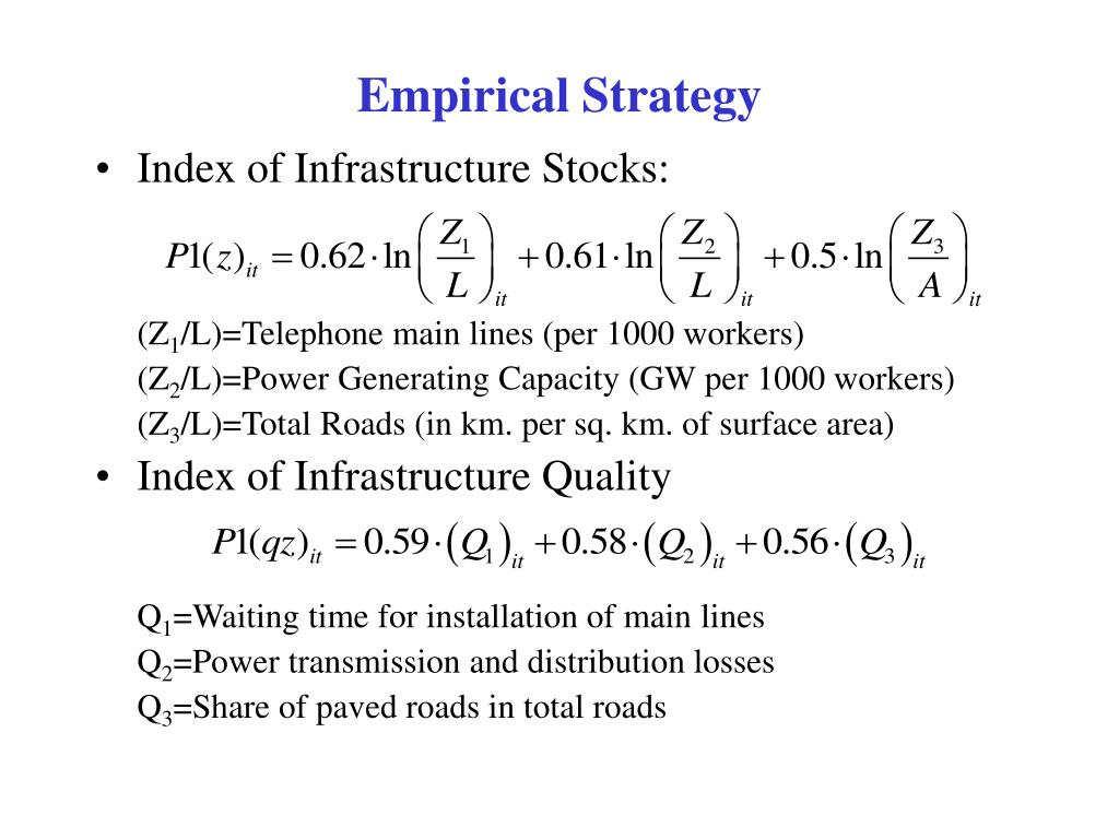 Empirical Strategy