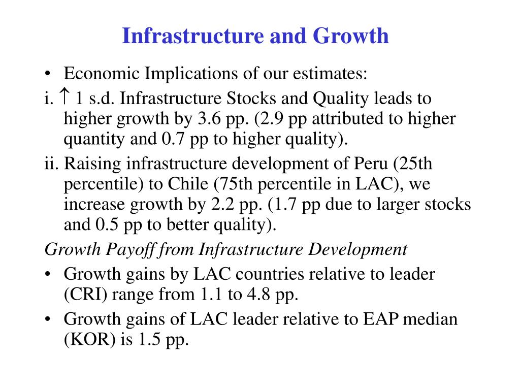 Infrastructure and Growth