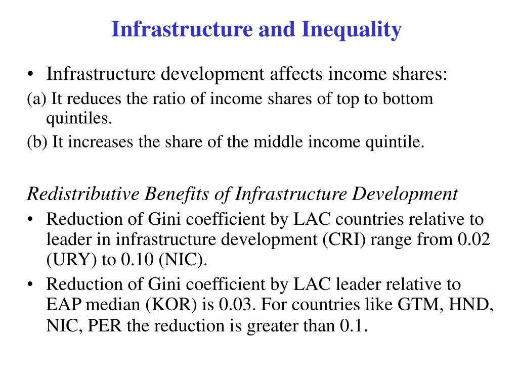 Infrastructure and Inequality