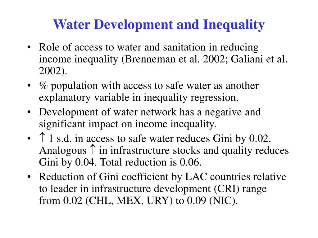 Water Development and Inequality