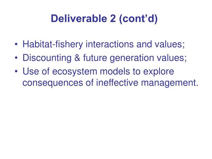 Deliverable 2 (cont'd)