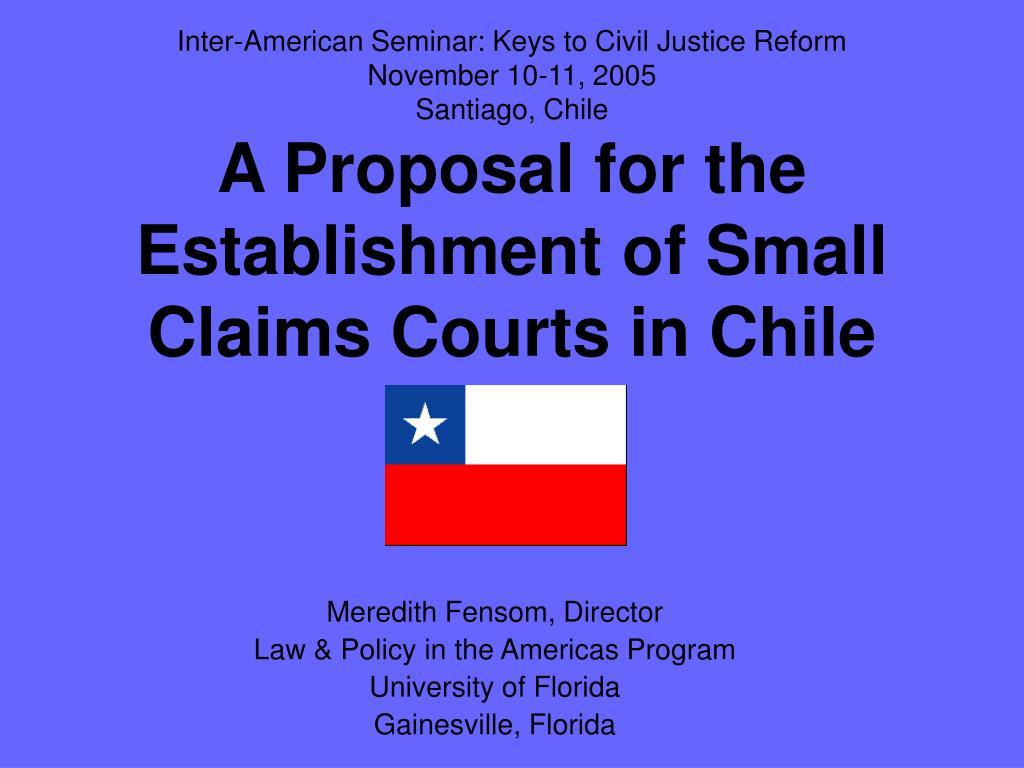 Inter-American Seminar: Keys to Civil Justice Reform