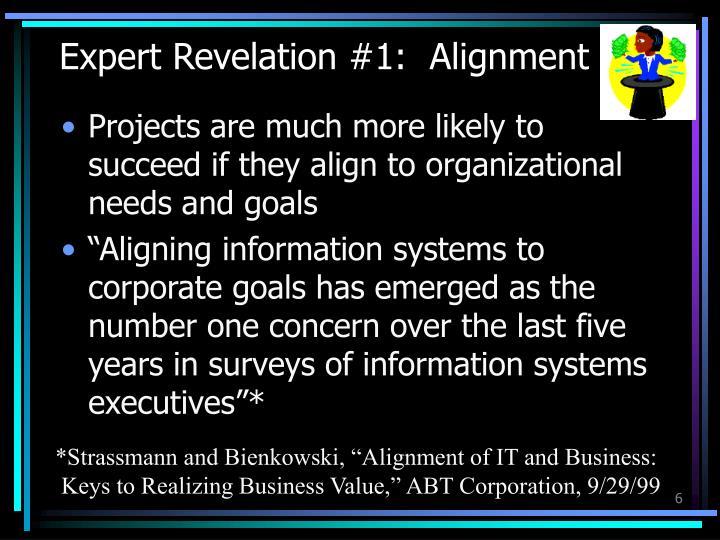 Expert Revelation #1:  Alignment