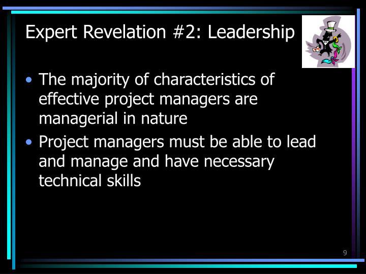 Expert Revelation #2: Leadership